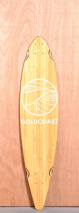 "GoldCoast 40"" Classic Bamboo Pintail Longboard Deck"