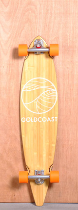 "GoldCoast 40"" Classic Bamboo Pintail Longboard Complete"