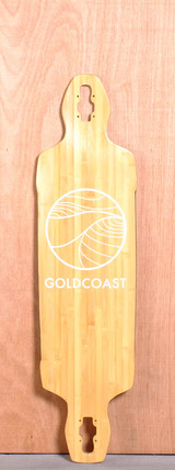 "GoldCoast 40.5"" Classic Bamboo Drop Through Longboard Deck"