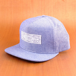 Poler Chambray Snap Back Hat - Blue