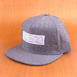 Poler Chambray Snap Back Hat - Black