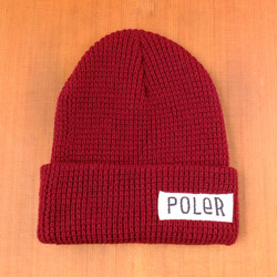 Poler Worker Man Beanie - Burgandy