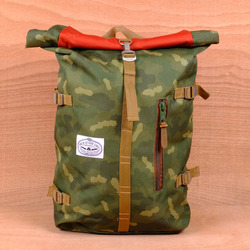 Poler Rolltop Backpack - Camo/Orange