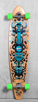 "Stella 46"" Pintail Totem Longboard Complete"
