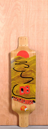 "DB 35.25"" Duck Race Longboard Deck"
