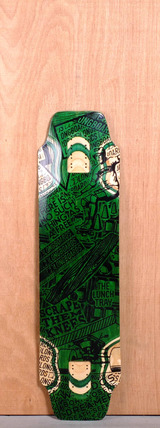 "DB 36"" Lunch Tray Longboard Deck - Green"