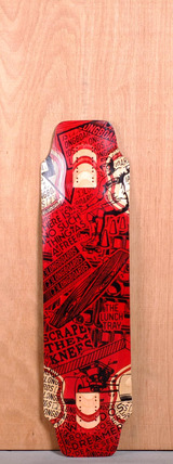 "DB 36"" Lunch Tray Longboard Deck - Red"