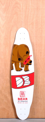 "DB 37.5"" Bear Longboard Deck - Red"