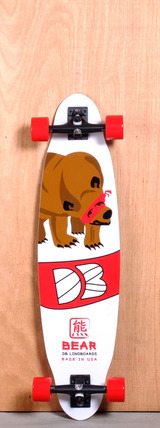 "DB 37.5"" Bear Longboard Complete - Red"