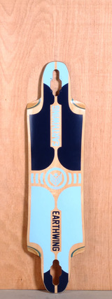 "Earthwing 39"" Supermodel 3D Drop Through Longboard Deck - Blue"