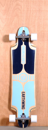 "Earthwing 39"" Supermodel 3D Drop Thru Longboard Complete - Blue"