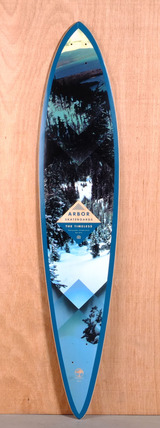 "Arbor 46"" Timeless Pin Longboard Deck - Walnut"