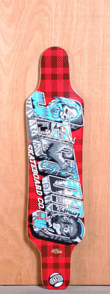 "Sector 9 40.5"" Mini Shaka Longboard Deck - Red Flannel"
