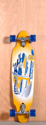 "Sector 9 36"" Tempest Longboard Complete - Yellow V1"
