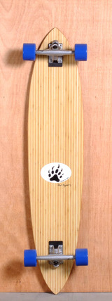 "Barfoot 44"" Pintail Bamboo Longboard Complete"