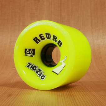 Abec11 ZigZags 66mm 83a Wheels - Lemon