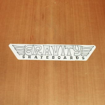 Gravity Sticker Black & White