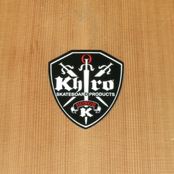 Khiro Sticker Large White on Black Honor