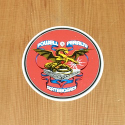 Powell Sticker Banner Dragon 4""