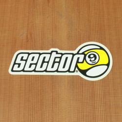 "Sector 9 Sticker 4"" Circle Nineball with Letters"