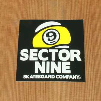 "Sector 9 Sticker 3.25"" Black Square"