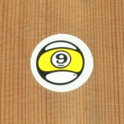 "Sector 9 Sticker 1.25"" Circle Nineball"