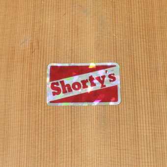 Shorty's Sticker Silver Small