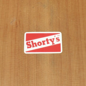 Shorty's Sticker White Small