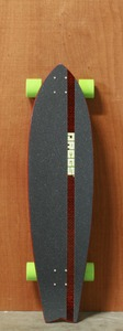 "Dregs 37.5"" F-1 Fiberweave Orange Longboard Complete"