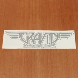 "Gravity Sticker 10.75"" Logo Decal Silver"