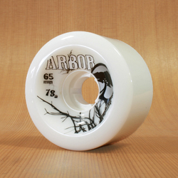 Arbor 65mm 78a White Street Wheels