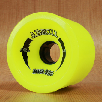 Abec11 BigZigs 75mm 83a Wheels - Lemon