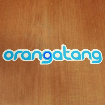 Orangatang Sticker Blue
