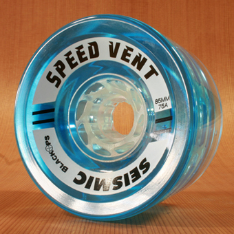 Seismic Speed Vent 85mm 75a Clear Wheels - Blue