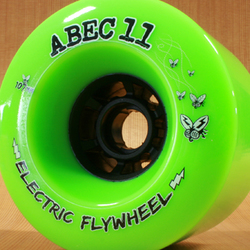 Abec11 Electric Flywheels 107mm 80a Wheels - Lime