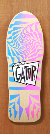 "Vision 30"" Gator Skateboard Deck - Natural"
