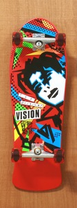 "Vision 30"" Mark Gonzales Red Skateboard Complete"