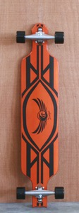 "Dregs 42"" Fiberslide 101 Orange Longboard Complete"