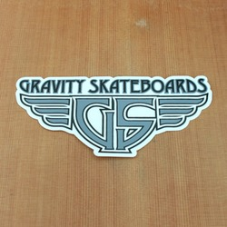 Gravity Sticker Wings Grey