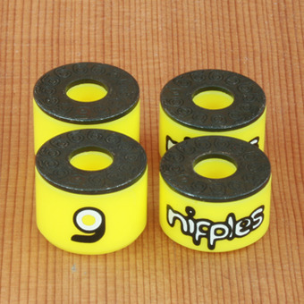 Orangatang Nipples Double Barrel Hard Bushings - Yellow