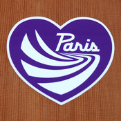 Paris Sticker Medium Purple Heart