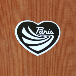 Paris Sticker Small Black Heart