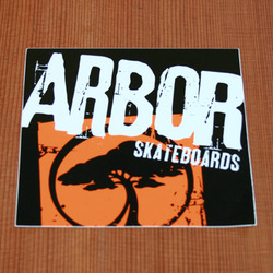 "Arbor Sticker 5.5"" Square Orange"
