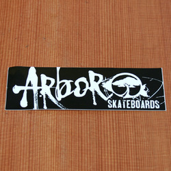 "Arbor Sticker 7.5"" Rectangle Black"