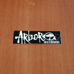 "Arbor Sticker 4.5"" Rectangle Black"