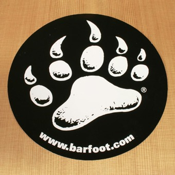 Barfoot Sticker Black Round