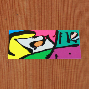 Rayne Sticker Multicolor Rectangle