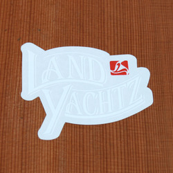 Landyachtz Sticker White Pirate Script